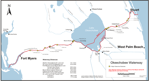 Route Map of the Okeechobee Waterway