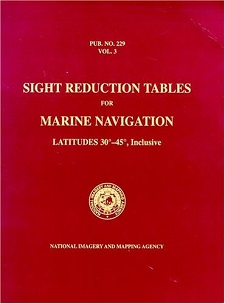 Sight Reduction Tables Pub. HO-229