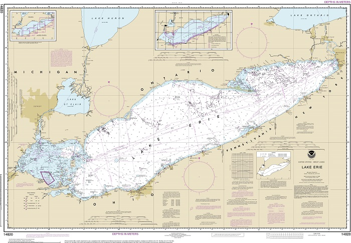 Chart of Lake Erie