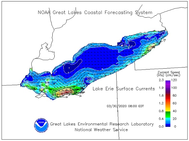 Lake Ontario Surface Currents